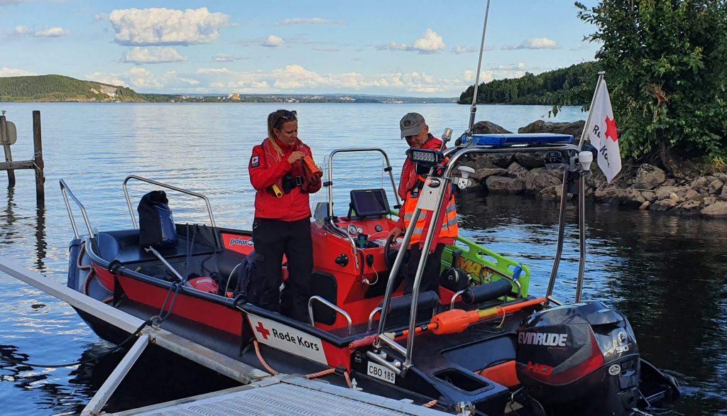 Bilde av båt på leteaksjon